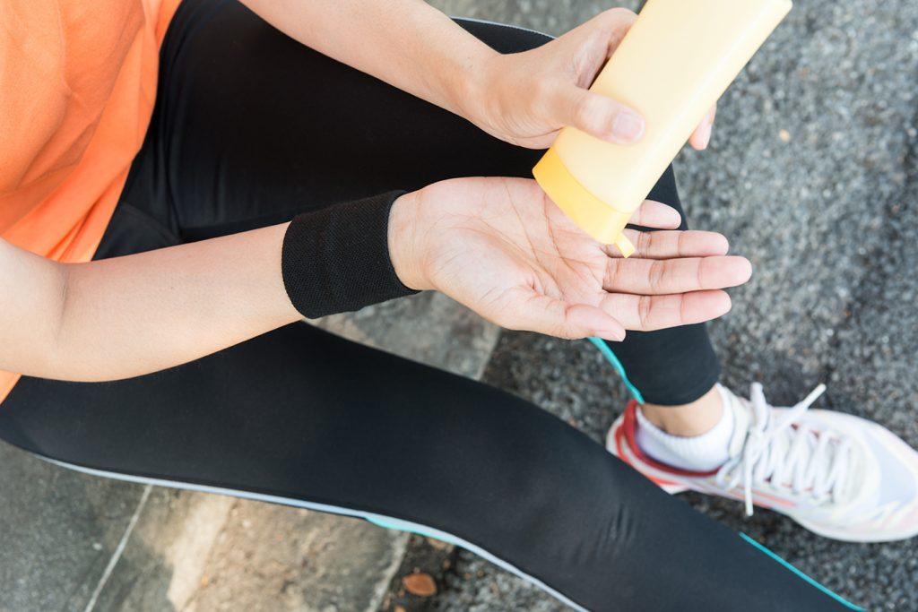 Sport und Sonnenschutz